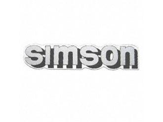 Klebefolie Simson-Tank silber/schwarz
