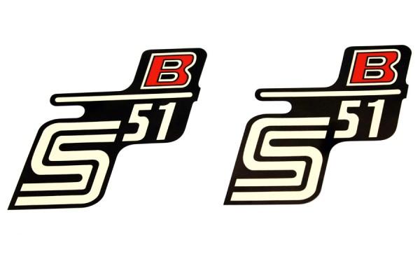 """Aufklebersatz """"S51 B"""" schwarz rot im Original Design"""
