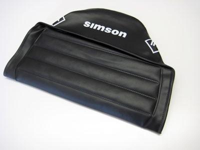 Sitzbezug S51 KR51/2 schwarz strukturiert mit Schriftzug Simson