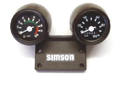 Gerätekombination SIMSON schwarz Standard 6V