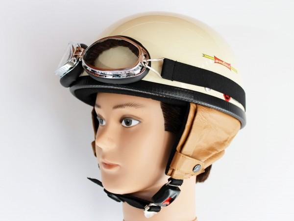 Helm Halbschale RB 500 elfenbein Größe L mit Brille