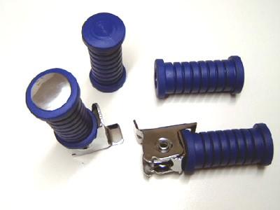 Fußrastenset blau 4-teilig