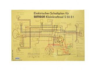 Schaltplan Farbposter (69x49cm) S50 B1 6V