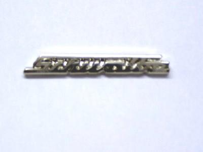Pin Simson Schwalbe Schriftzug silber klein