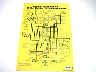Schaltplan Farbposter SR50/80
