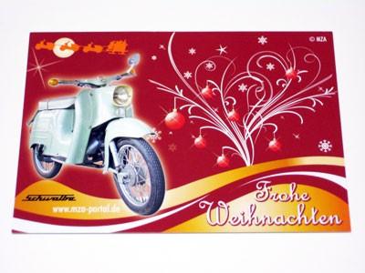 Postkarte Schwalbe Weihnachten