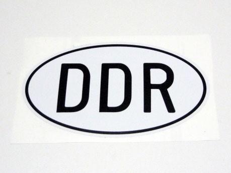 Länderaufkleber DDR PKW + Mopedanhänger medium