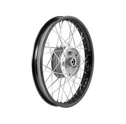 Speichenrad 1,6x16 schwarze Alufelge, Chromspeichen