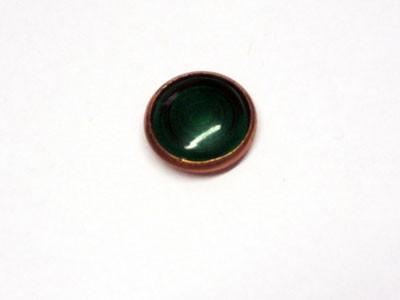 Kontrollglas grün in Kupfer- Fassung