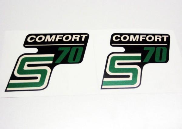 """Aufklebersatz """"S70 Comfort"""" schwarz grün im Original Design"""