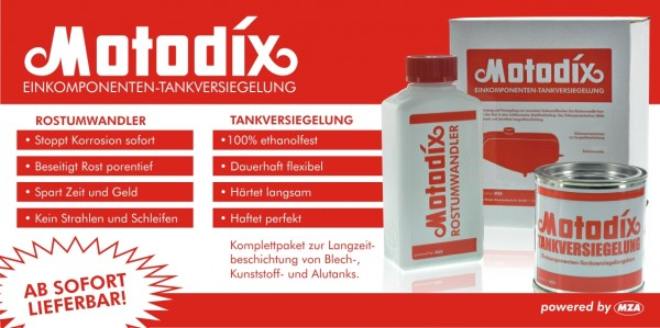 Motodix Tankversiegelung 2-teilig für Tanks bis 15l