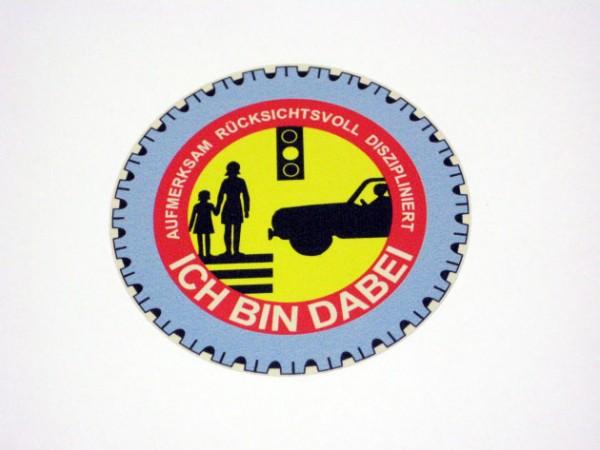 """Nostalgie Aufkleber """"Sicherheit im Straßenverkehr"""""""