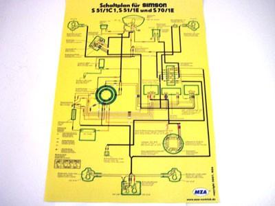 Schaltplan Farbposter S51