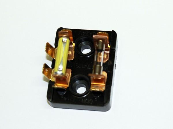 Sicherungsdose KR51/2 L mit Sicherungen 4 A und 2,5 A