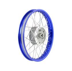 Speichenrad 1,6x16 blaue Alufelge, Edelstahlspeichen
