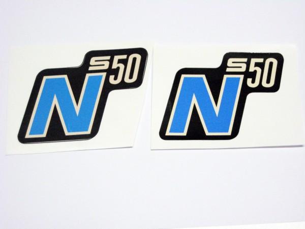 Aufklebersatz S50N alt blau im Original Design