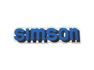 Klebefolie Simson-Tank blau
