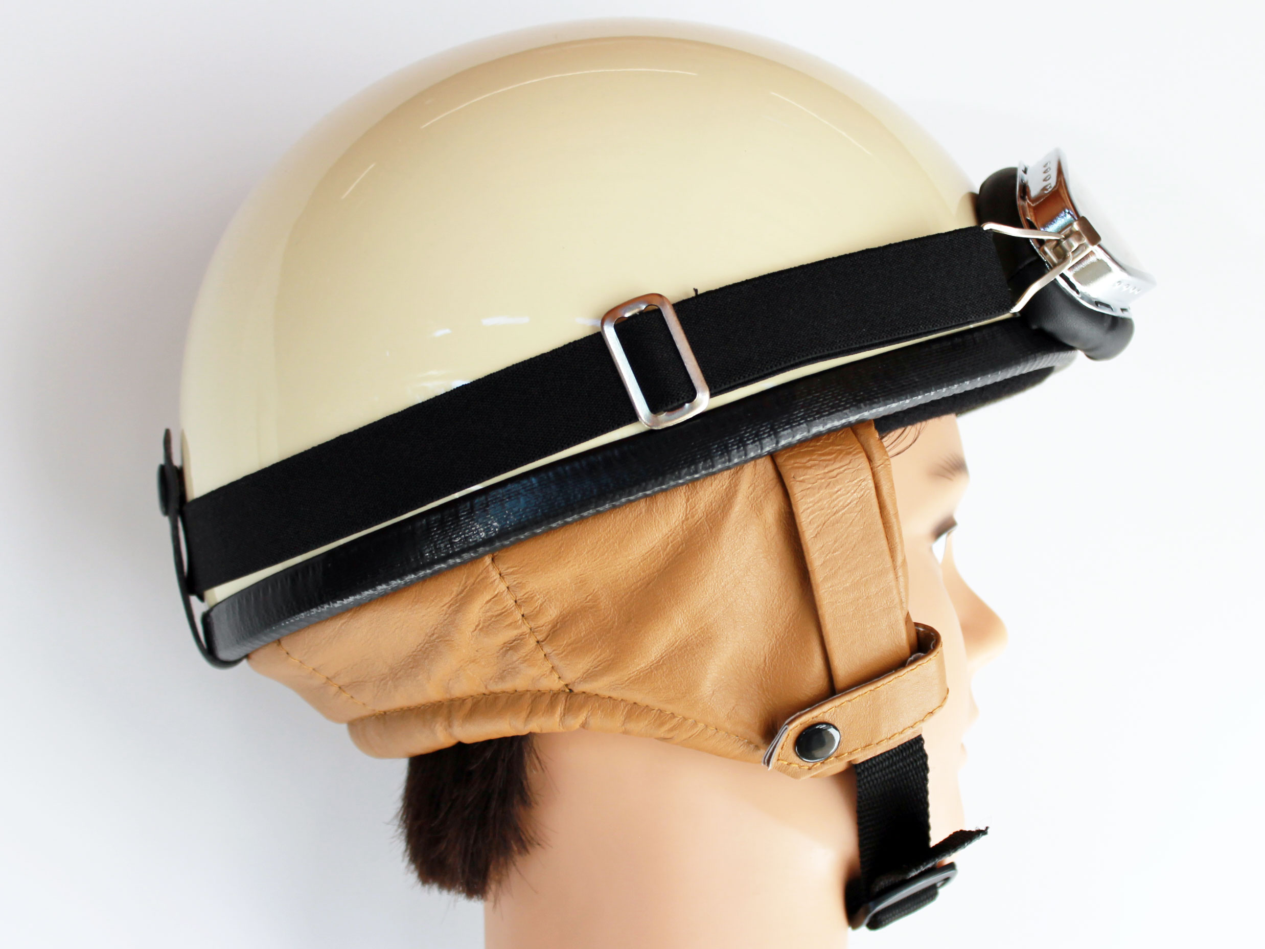 helm halbschale rb 500 elfenbein gr e m mit brille helm. Black Bedroom Furniture Sets. Home Design Ideas