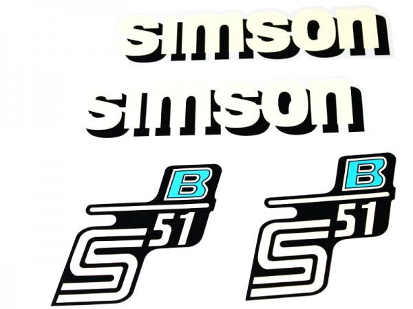 Dekorsatz S51 B blau neues Design