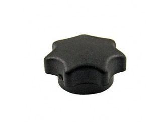 Sterngriffmutter M6, schwarz, lange Ausführung ES, TS