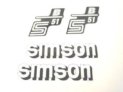 Aufklebersatz S51 B weiß