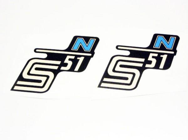 Aufklebersatz S51 N Schwarz Hellblau Im Original Design
