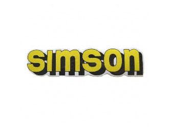 Klebefolie Simson-Tank gelb