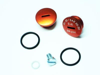 Verschlußschraubensatz Kupplungsdeckel Alu orange