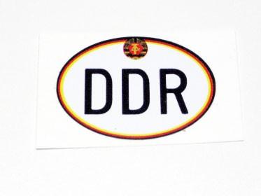Länderaufkleber DDR Moped klein