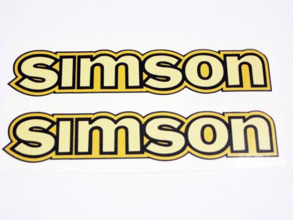 Aufklebersatz SIMSON Tank S50 gelb im Original Design