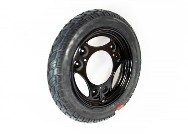Komplettrad schwarz Simson Roller SR50/80, Lastendreirad SD50