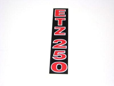 Klebefolie Telegabel ETZ 250 rot/schwarz/weiß
