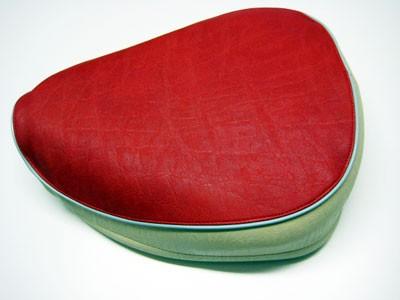 Einzelsitz rot/sand KR50 (ohne Bodenblech)