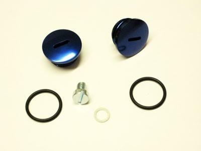 Verschlußschraubensatz Kupplungsdeckel Alu blau