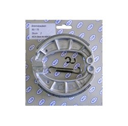 Bremsbacken SET MZA mit Feder und Sicherungsclips