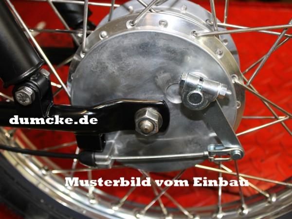 Bremsschild vorn Schwalbe - Umbau auf außenliegenden Bremszug
