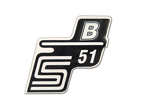 Klebefolie Seitendeckel S51B weiß