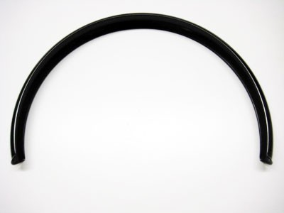 Schutzblech für Mopedanhänger schwarz