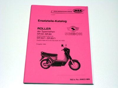 Simson Ersatzteile Katalog Roller SR50/SR80