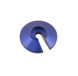 Steckscheibe alu blau eloxiert Federbein Enduro, MZ