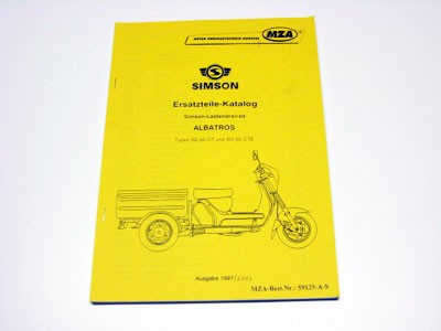 Simson Ersatzteile Katalog Lastendreirad SD50