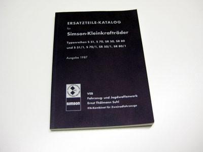 Ersatzteilekatalog S51 original Ausgabe 1987