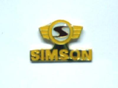 Pin Simson Logo gelb/rot