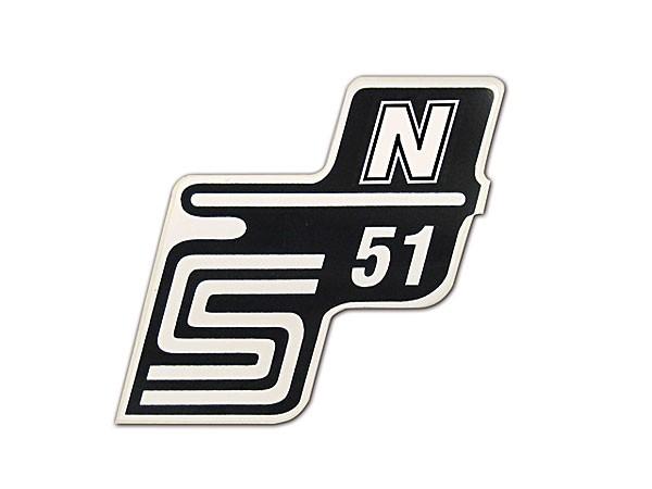 Klebefolie Seitendeckel S51 N weiß