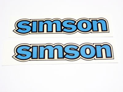 Aufklebersatz Simson Tank S50 Blau Im Original Design