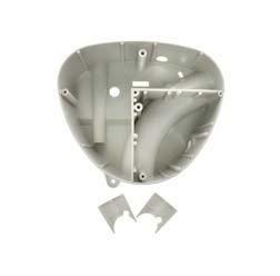 Gehäusemittelteil Weiß-Grau ohne Abdeckplatte für Luftfiltereinsatz
