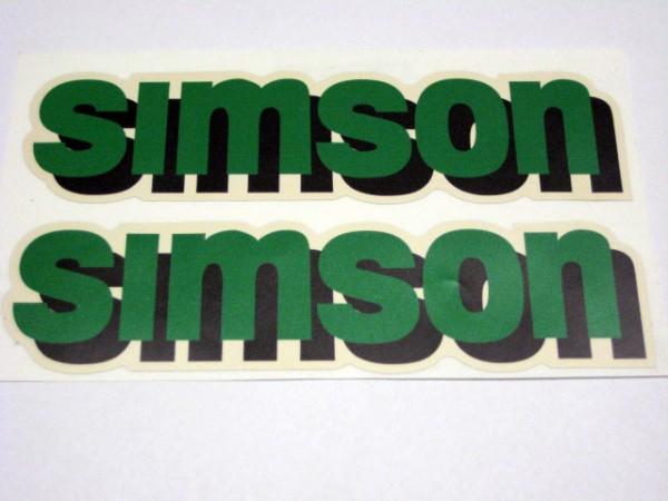 Aufklebersatz SIMSON Tank S70C grün/schwarz im Original Design