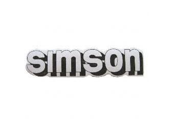 Klebefolie Simson-Tank weiß/schwarz