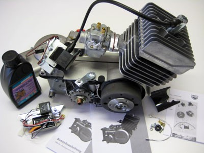 Motor S51 50ccm mit Vape - Zündung & Bing 1103