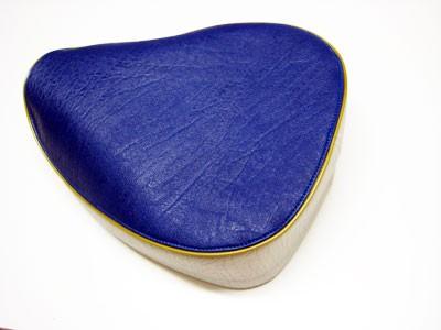 Sitzbezug mit Spannring blau/grau KR50